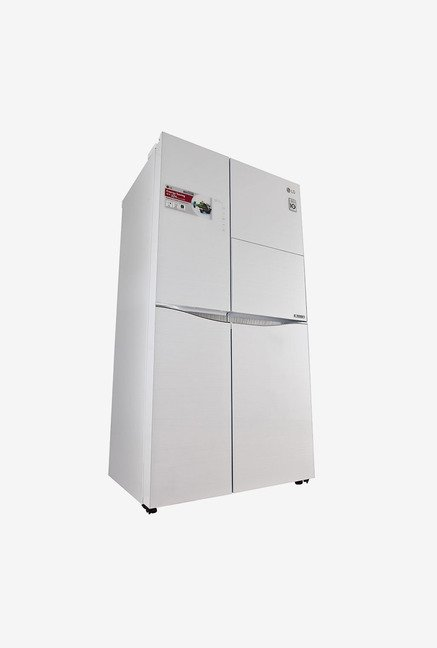 LG GC-C237JGGV 675 Litre Side by Side Refrigerator (White)