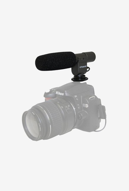 Polaroid Pro Shotgun Microphone for Nikon (Black)