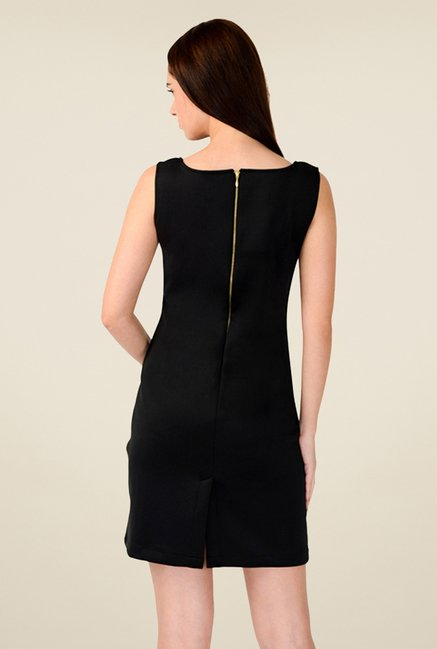 W Black Solid Dress