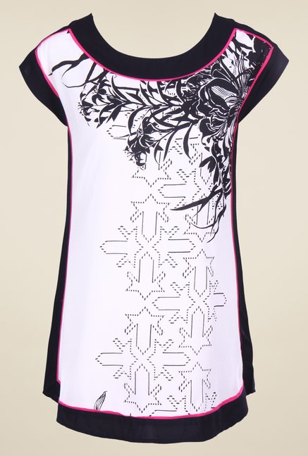 W White Printed Top