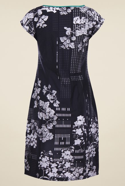 W Black Printed Kurta
