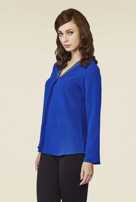 AND Blue Solid Top
