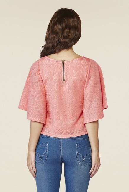 AND Peach Self Print Top