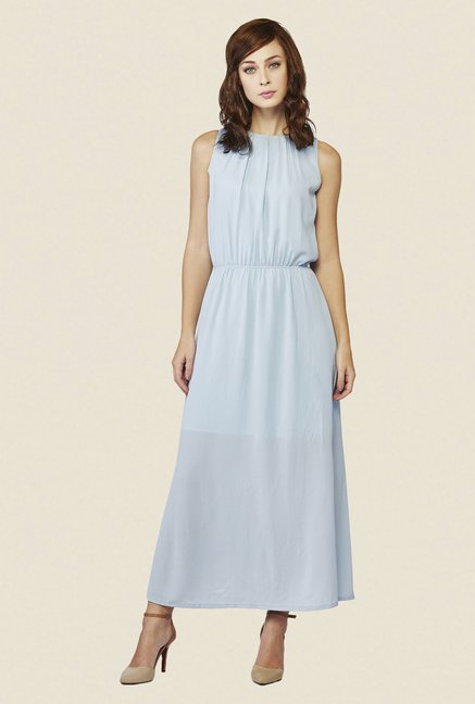 AND Light Blue Solid Dress