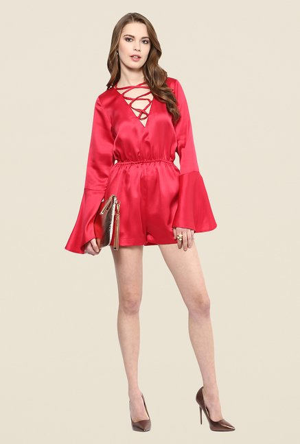 Yepme Ellen Red Party Jumpsuit