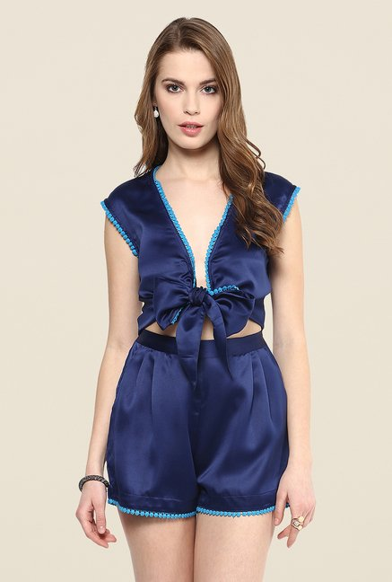 Yepme Amber Dark Blue Party Jumpsuit