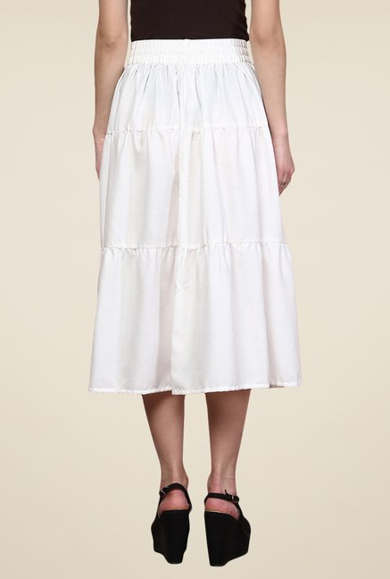 Yepme White Emma Skirt