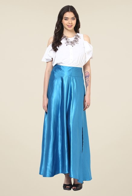 Yepme Blue Darya Party Skirt