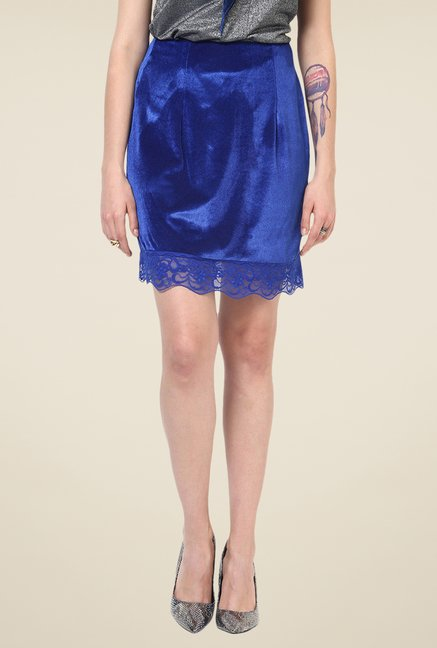 Yepme Blue Liora Party Skirt