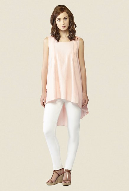 AND Peach Solid Tunic