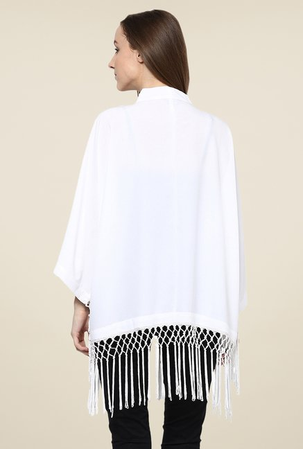 Yepme White Lynda Cape