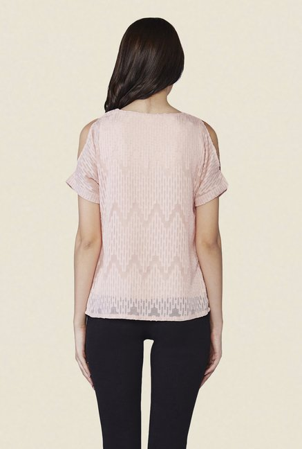 AND Rose Pink Self Print Top