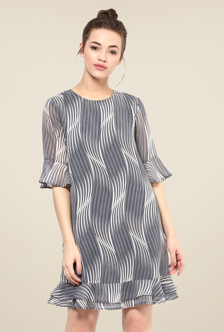 Femella Grey Printed Dress