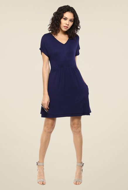 Femella Navy Jersey Skater Dress