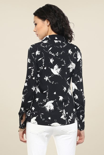 Femella Black & White Printed Shirt