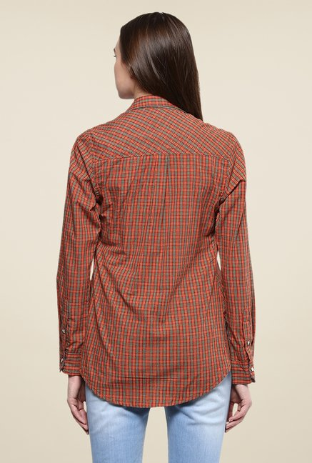 Yepme Maroon Derica Checks Shirt