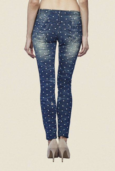 AND Blue Polka Dot Jeans