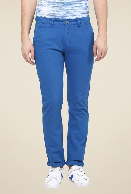 Yepme Dark Blue Finch Solid Chinos