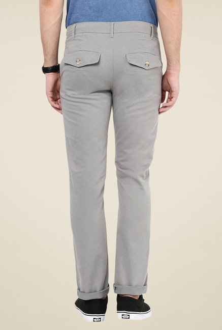 Yepme Grey Benn Solid Chinos