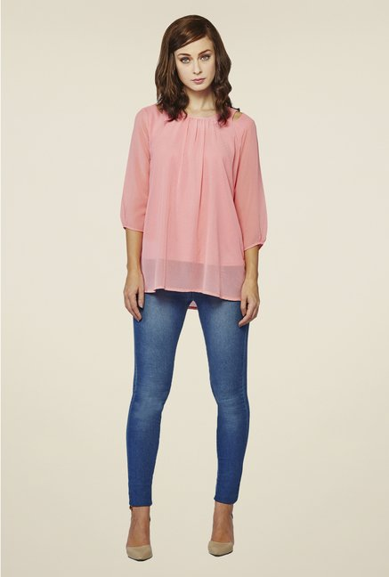 AND Blush Pink Solid Top