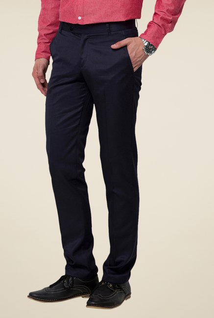 Yepme Black Warren Solid Trouser