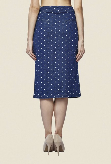AND Blue Polka Dot Skirt