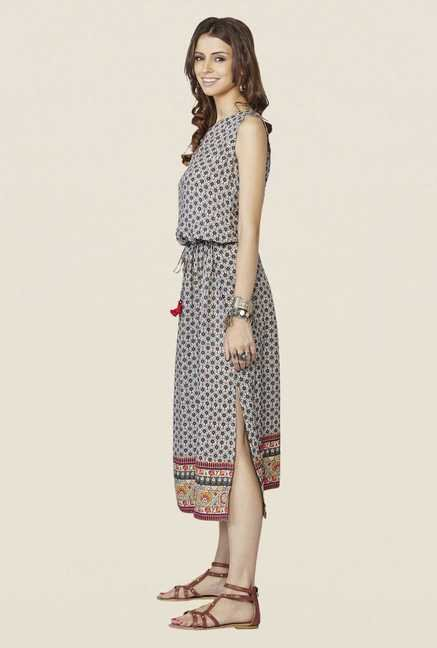 Global Desi Grey Marlowe Maxi Dress