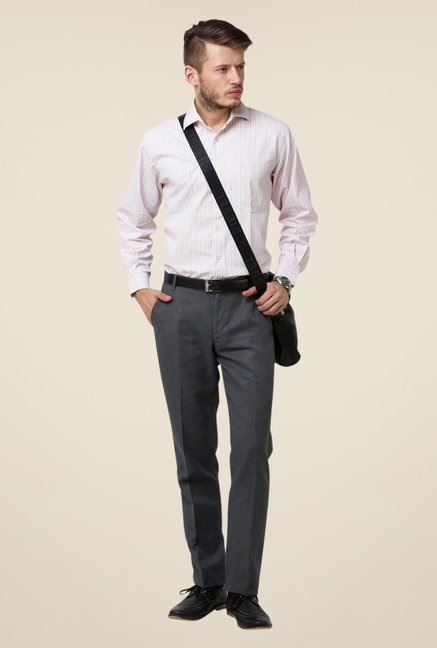 Yepme Dark Grey Warren Solid Trouser