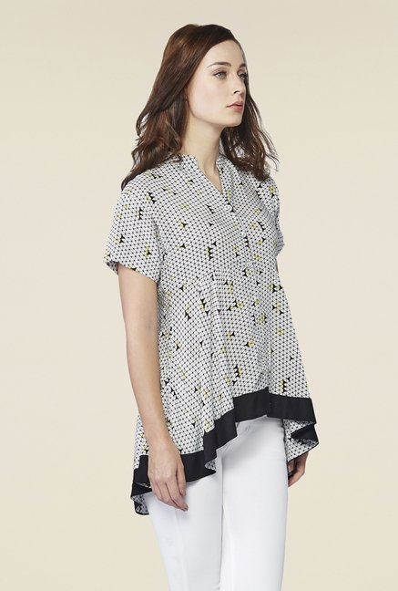 AND White & Black Printed Tunic