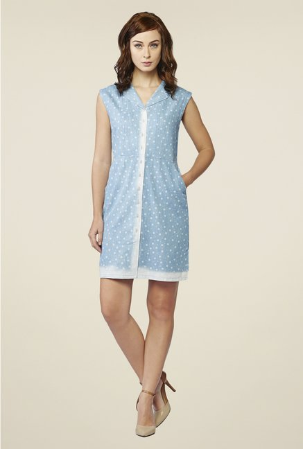 AND Blue Floral Print Dress