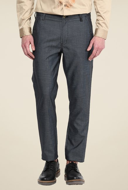 Yepme Grey Marwin Solid Trouser