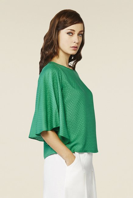 AND Green Self Print Top