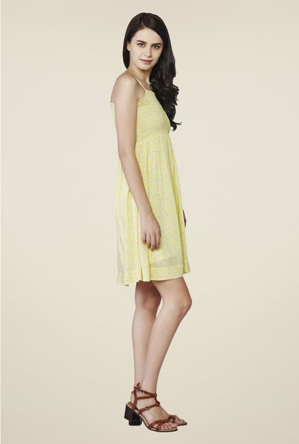 AND Yellow Floral Print Dress