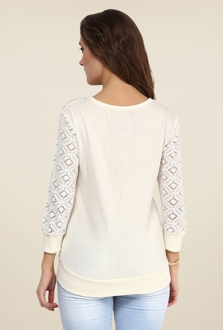 Yepme Off White Norah Lace Top