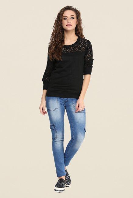 Yepme Black Norah Lace Top