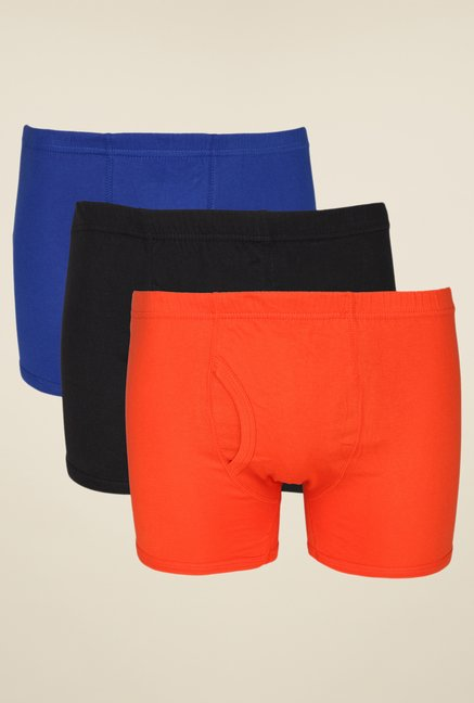 Yepme Blue, Black & Orange Jesse Combo of 3 Trunks