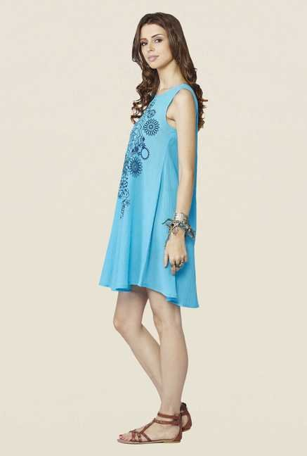 Global Desi Aqua Yara Dress