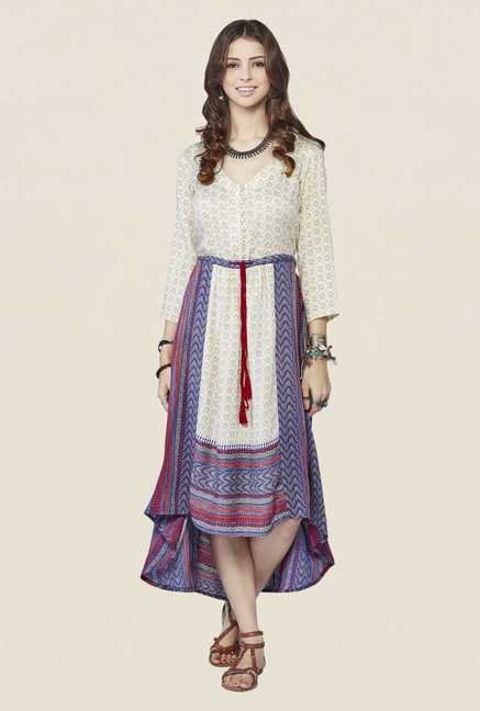 Global Desi Off White Lana Midi Dress
