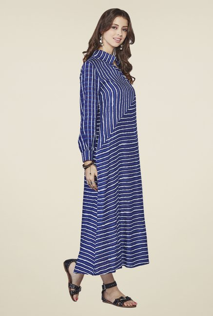 Global Desi Blue Iris Maxi Dress