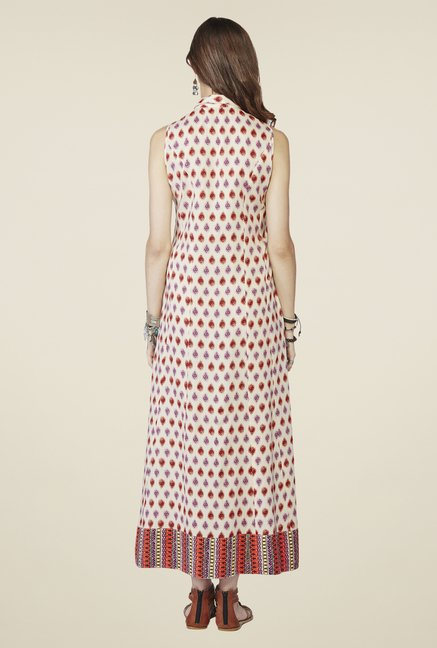 Global Desi Off White Faerie Maxi Dress