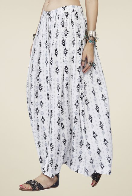 Global Desi White Alice Skirt
