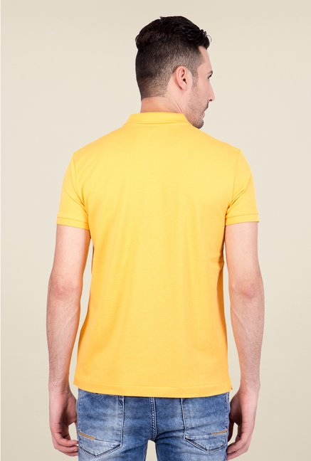 United Colors of Benetton Yellow Polo T Shirt