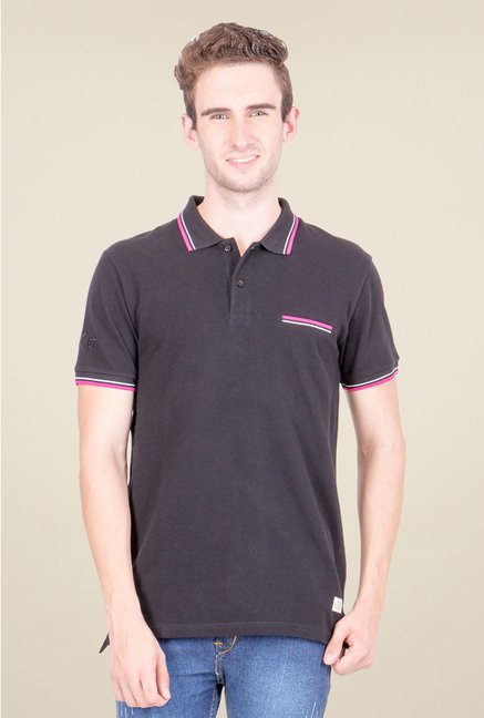 United Colors of Benetton Black Polo T Shirt