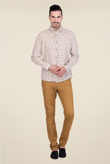 United Colors of Benetton Beige Linen Shirt