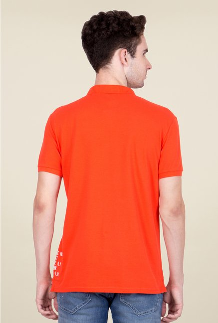 United Colors of Benetton Orange Polo T Shirt