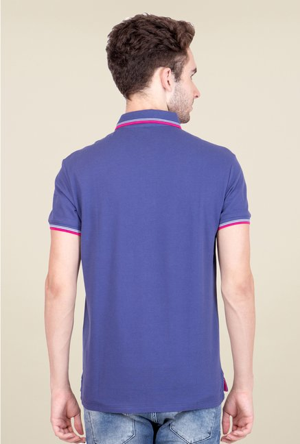 United Colors of Benetton Blue Polo T Shirt
