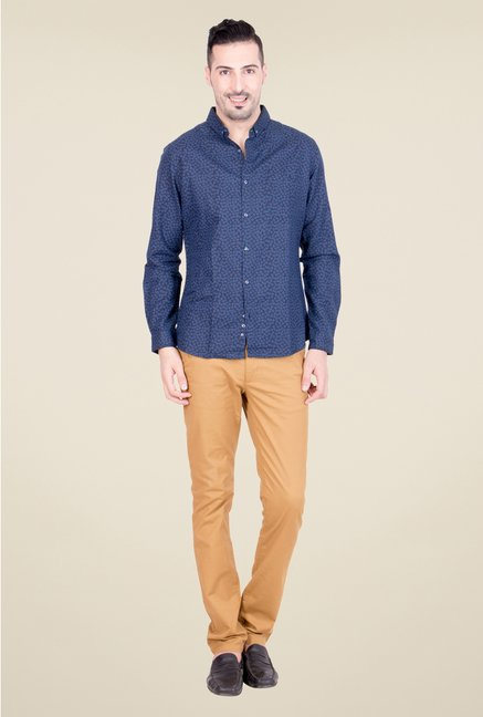 United Colors of Benetton Navy Linen Shirt