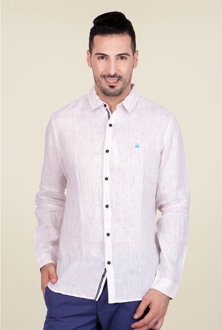 United Colors of Benetton Pink Linen Shirt