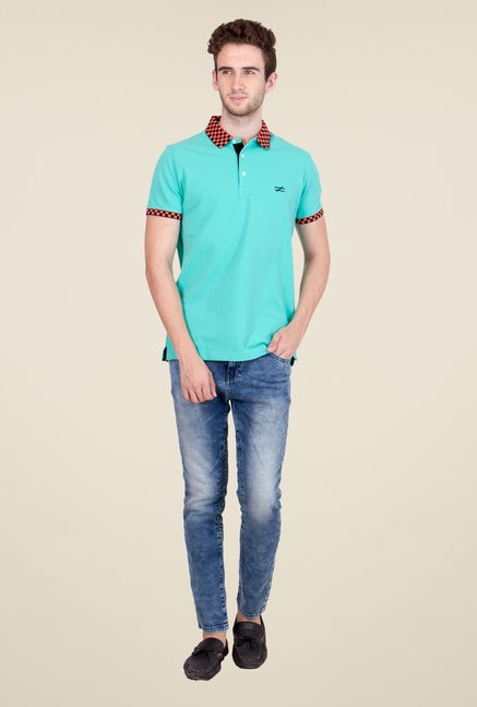 United Colors of Benetton Turquoise Polo T Shirt