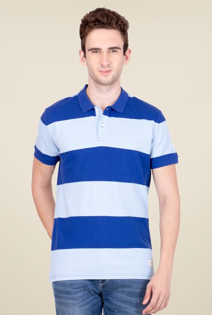 United Colors of Benetton Sky Blue Polo T Shirt